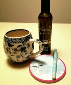 honey ginger tea, honey ginger aged balsamic vinegar, tea